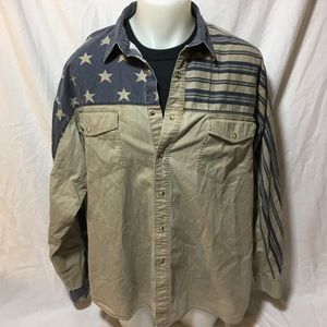 Rodeo American Flag Wrangler Button up